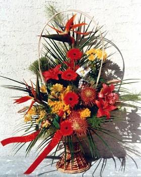 Gratulační květinový koš