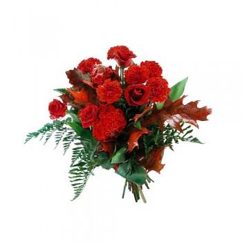 Kytice karafiát a růže